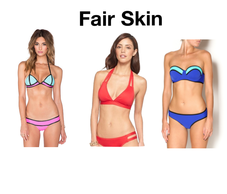 Can best bikini color for pale skin